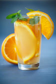 Fresh and fruity brew with oranges  — Foto de Stock