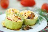 Stuffed zucchini — Stock Photo