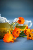 Calendula tea — Stock Photo