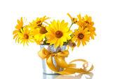 Mazzo di fiori margherita gialla — Foto Stock