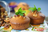 Walnut muffins — Stock Photo