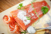 Salted salmon — Stock Photo
