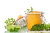 Zucchini puree — Stock Photo