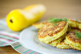 Zucchini pancakes — Stock Photo