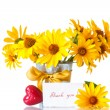 Bunch of yellow daisy flowers — Stock Photo #50245433
