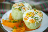 Zucchini baked with egg and cheese — 图库照片