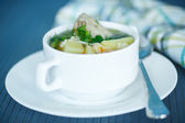 Chicken soup with noodles — Стоковое фото