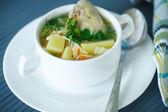 Sopa de pollo con fideos — Foto de Stock