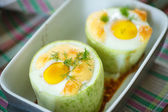 Zucchini baked with egg and cheese — ストック写真