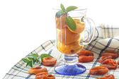 Compote with dried apricots — Stock Photo
