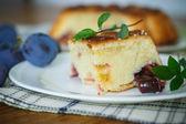 Tårta med plommon — Stockfoto