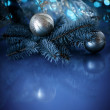 Christmas ball with fir branch — Stock Photo #51378813