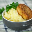 Mashed potatoes with fried cutlet — Stock Photo #51470293