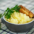 Mashed potatoes with fried cutlet — Stock Photo #51470395