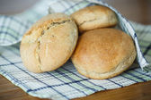bread buns from yeast dough — Stock Photo