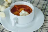 Beet soup — Stock Photo