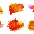 Set of watercolor abstract hand painted backgrounds — Stock Photo #14102141