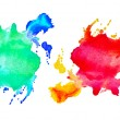 Stock Photo: Set of watercolor abstract hand painted backgrounds