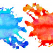 Set of watercolor abstract hand painted backgrounds — Stock Photo #14102580
