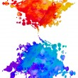 Set of watercolor abstract hand painted backgrounds - Foto Stock