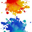 set of watercolor abstract hand painted backgrounds — Stock Photo #14102592