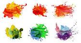 Uppsättning akvarell abstrakt handmålade bakgrunder — Stockfoto