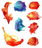 Set of watercolor abstract hand painted backgrounds — Stockfoto