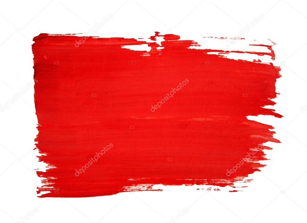 pintura roja dibujado con trazo de pincel — Foto stock © denissova #14102280