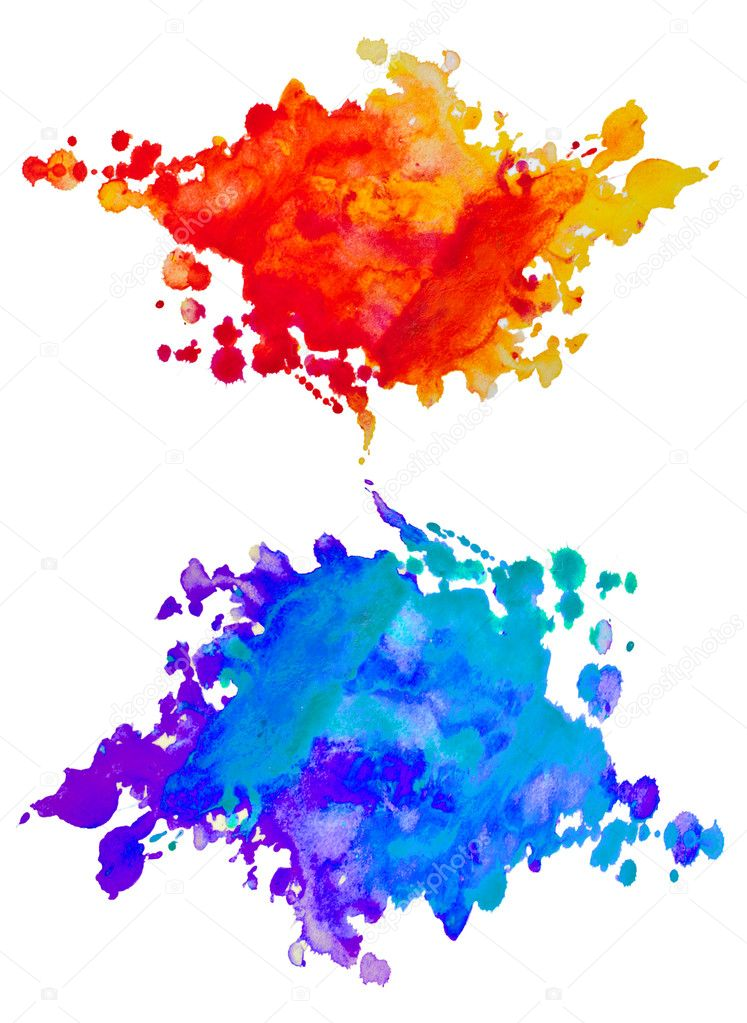 Set of watercolor abstract hand painted backgrounds — Stock Photo #14102590