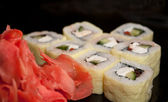Traditional fresh japanese sushi rolls — Stock Photo