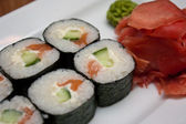 Traditional fresh japanese sushi rolls — Stock fotografie