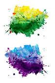 Sada akvarel abstraktní ručně malované pozadí — Stock fotografie