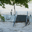 Flooded pier — Stock Photo