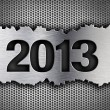 2013 new year metal template — Stock Photo