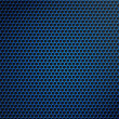 Blue metallic grid or grille background — Stock Photo