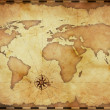 Abstract old grunge world map — Stock Photo #14105636