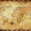 Stock Photo: Abstract old grunge world map