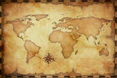 Abstract old grunge world map — Stock Photo