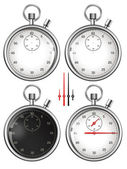 Set of stopwatches and parts ready for your design. Illustration — Stock Photo