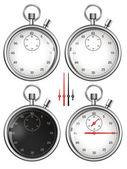 Serie di cronometri e pezzi pronti per il vostro disegno. illustrazione. — Foto Stock