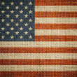 USA flag on grunge canvas background — Stock Photo #14752823