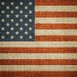 USA flag on grunge canvas background — Stock Photo