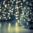 Christmas tree bokeh background - Stock Photo