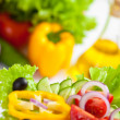 Healthy food vegetable salad — Foto Stock