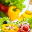 Healthy food vegetable salad — Stock Photo