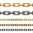 Metal chains collection isolated on white — Stock Photo #16882029