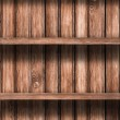 Wooden empty shelves background — Photo
