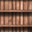 Wooden empty shelves background — Stock fotografie