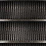 Metal empty shelves background — Stock Photo #17819511