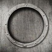 Metal porthole background — Stock Photo